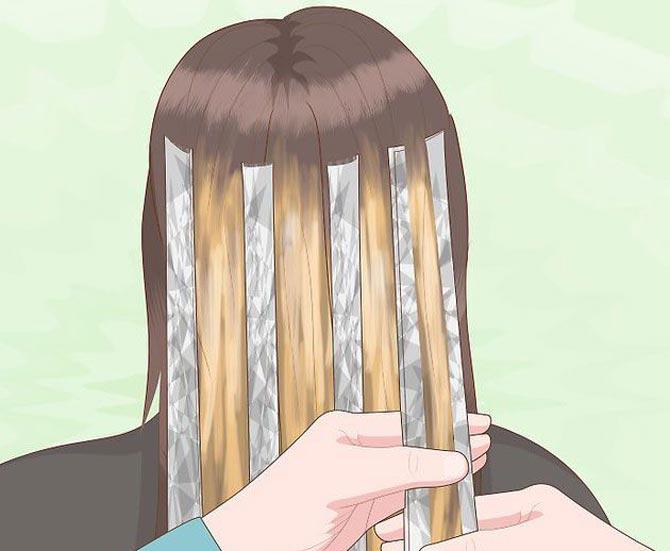 نحوه هایلایت مو در خانه